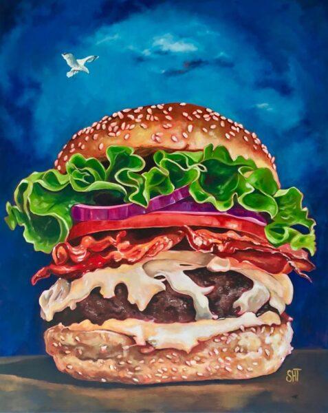 Burger Mål: 100 x 80 cm. Solgt