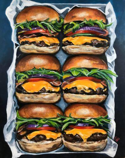 Burgere Mål: 100 x 80 cm