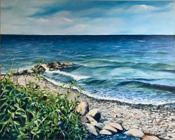 Kongsmark strand Mål: 80 x 100 cm